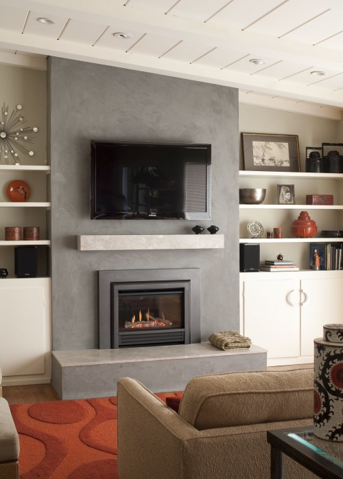 Fireplace Remodel Stucco Or Wonderboard